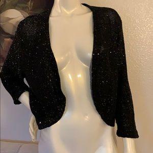 Anne Klein Sequin knit bolero